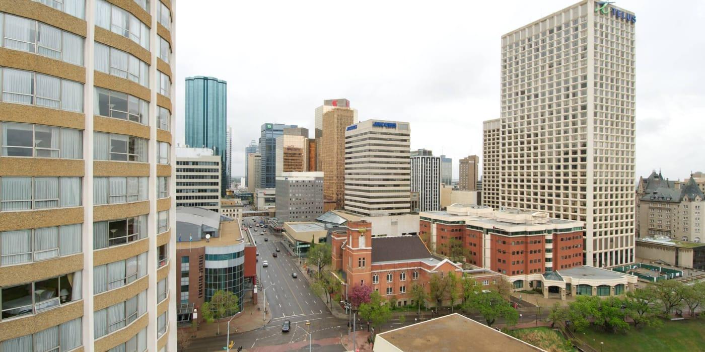 Exterior view of Park Square in Edmonton, Alberta