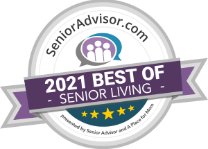 Best of Senior Living 2021 Award for Wood Ridge Assisted Living