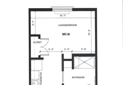 Learn more about our MC One Bedroom care floor plan option at Village at Belmar