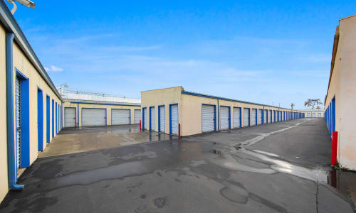 Plenty of exterior storage units at Storage Star in Modesto, California