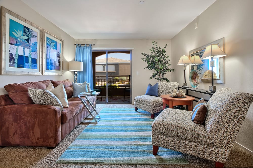 Cielo Apartment Homes offer a beautiful living room in Henderson, Nevada