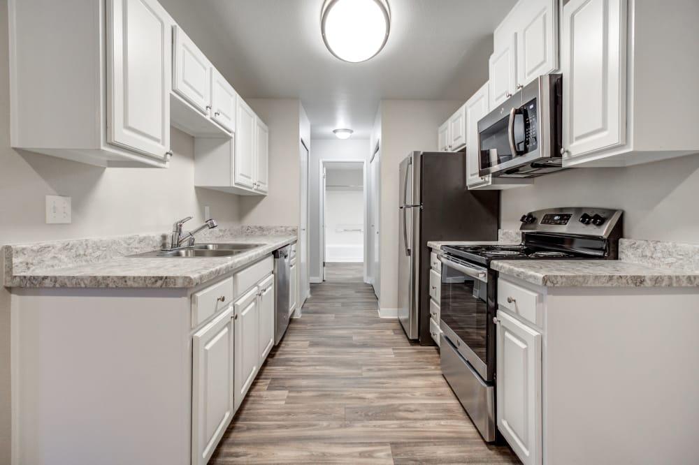 Kitchen at Walden Pond Apartments in Everett, Washington