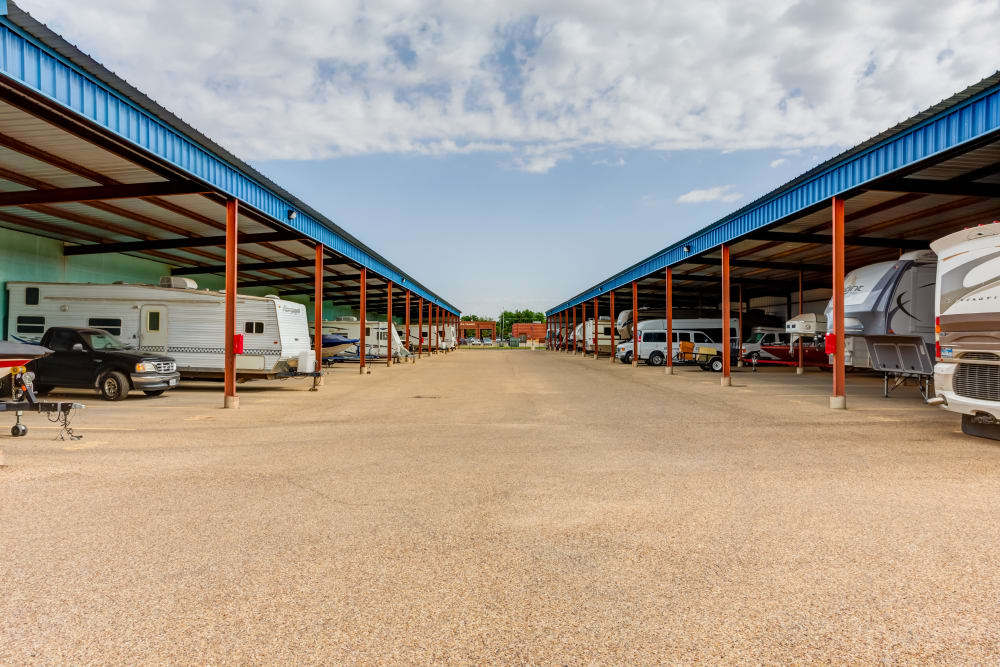 Covered RV and Boat Storage at  Metro Self Storage in Lubbock, TX