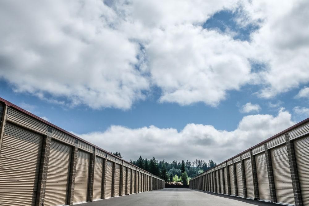 Outside units at Urban Self Storage Enumclaw - Phase II