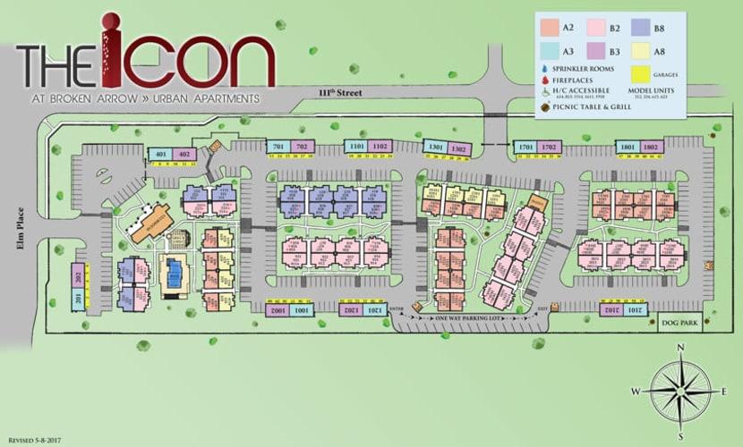 Site map for Icon at Broken Arrow in Broken Arrow, Oklahoma
