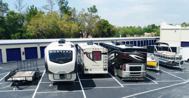RV storage at Midgard Self Storage in Roswell, Georgia