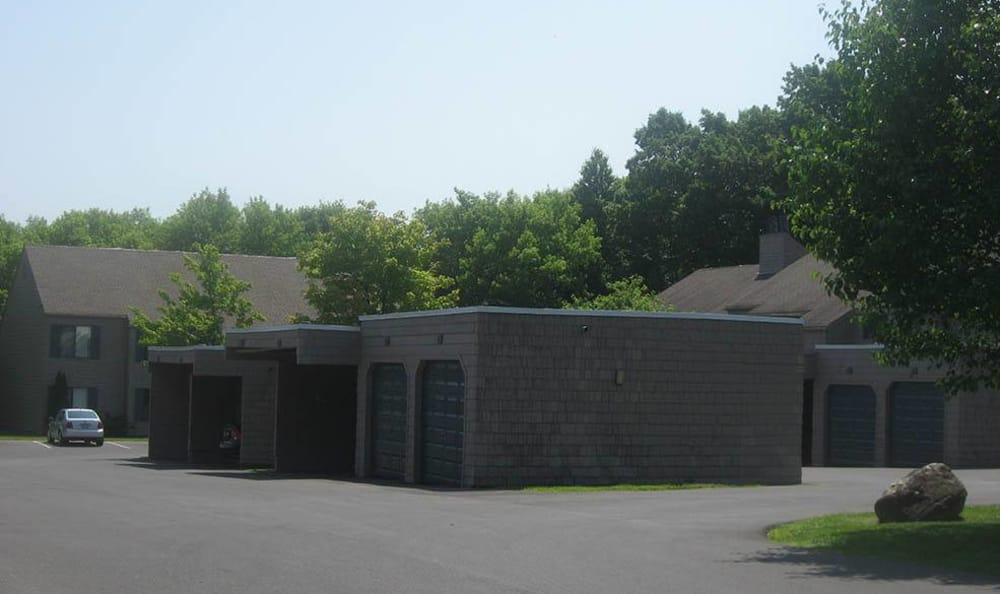Exterior view of Steeplechase Apartments community in Camillus