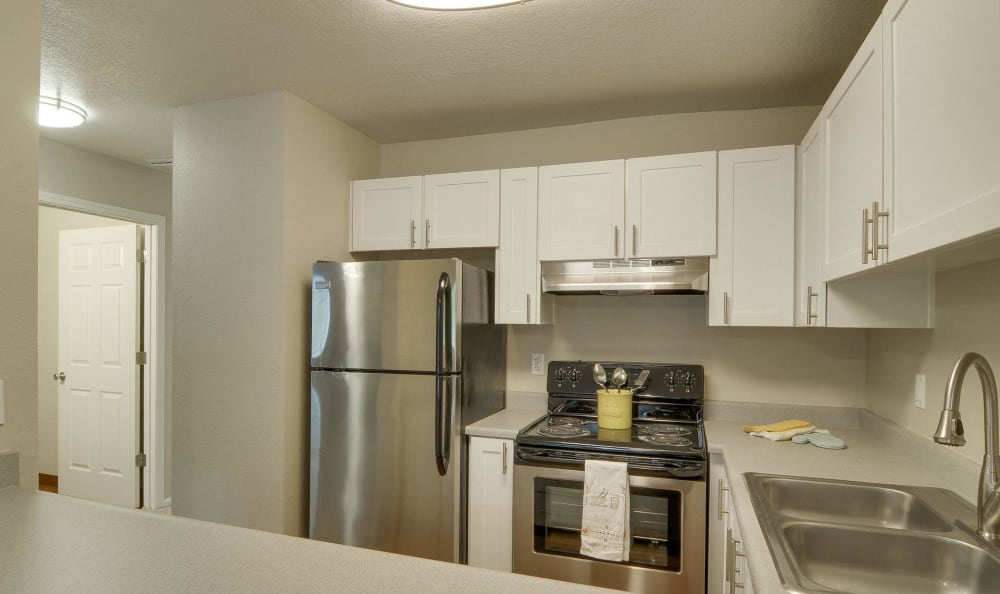 Kitchen at apartments in Vancouver