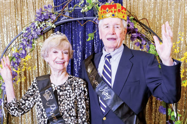 Two residents crowned prom king and queen at Liberty Heights Gracious Retirement Living in Rockwall, Texas