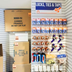 Packing and moving supplies at A-1 Self Storage in Concord, California