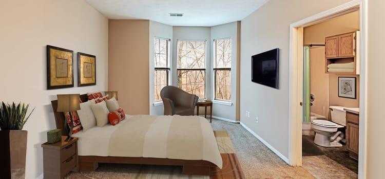 Bedroom at Highlands of Montour Run in Coraopolis, Pennsylvania