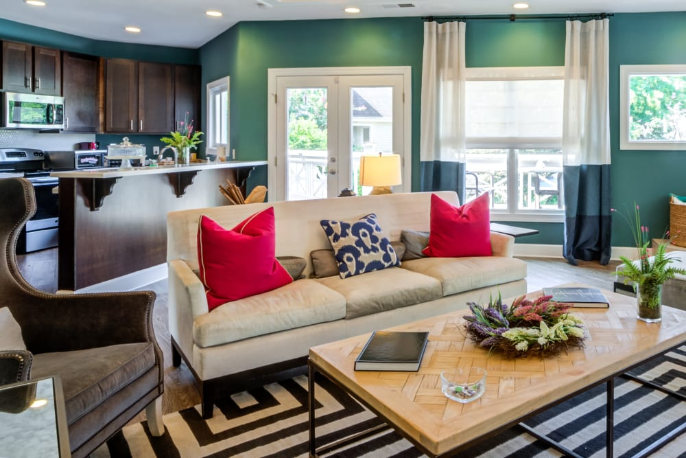 Comfortable clubhouse interior at CAPREIT in Rockville, Maryland