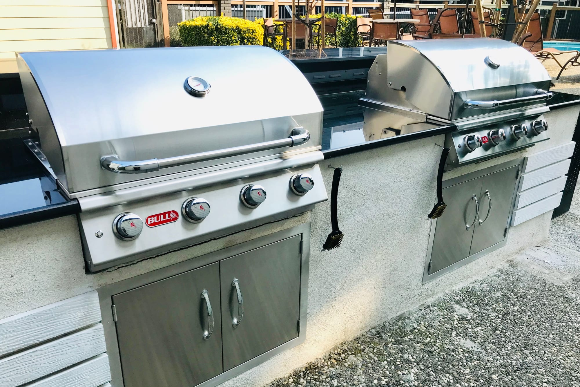 Outdoor barbecues at Bennington Apartments in Fairfield, California