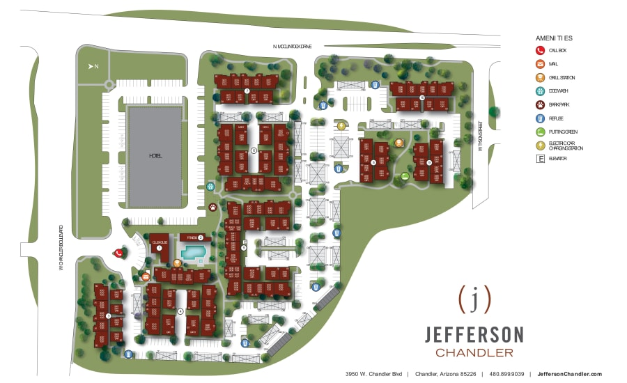 Jefferson Chandler site plan