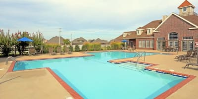 Swimming pool at apartments in Bentonville, Arkansas