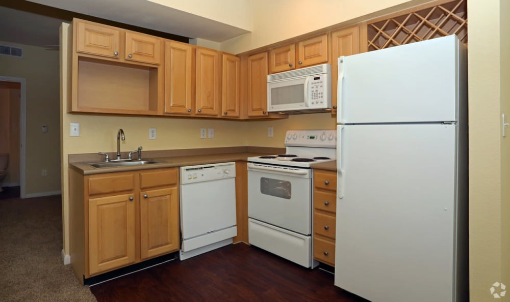 Springs at Bandera Apartments White Appliances