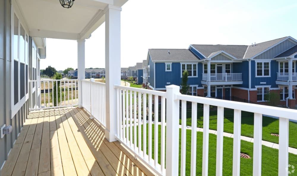 Balcony at Springs at Canterfield in West Dundee