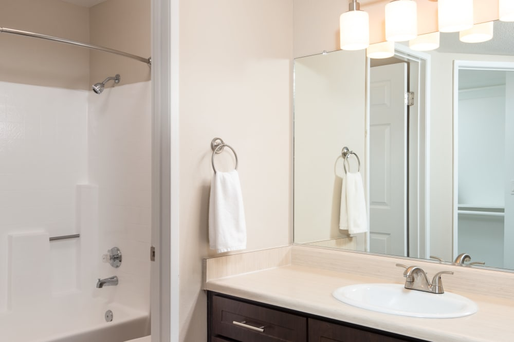Model bathroom at Shadow Ridge Apartment Homes in Simi Valley, California