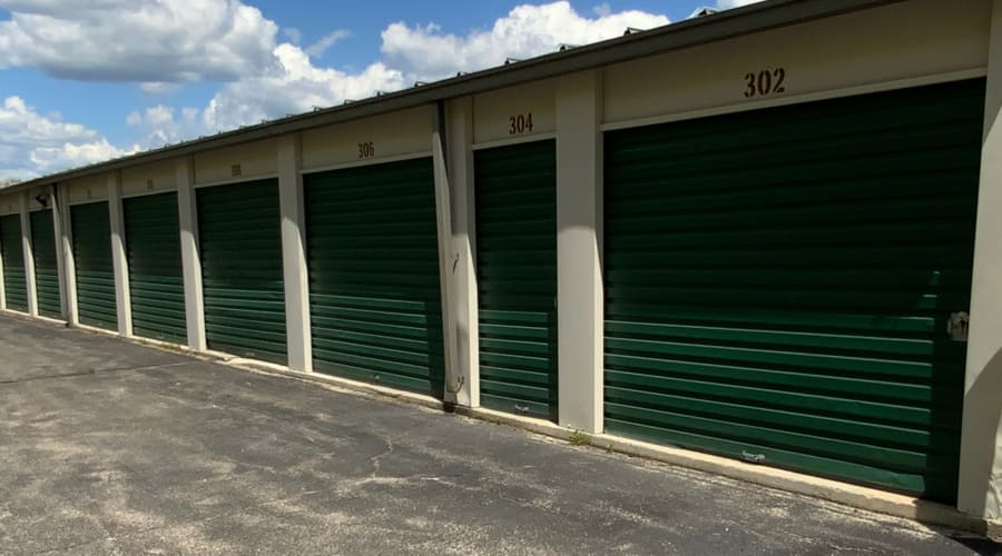 Exterior of outdoor units at KO Storage of Windham in Windham, Maine