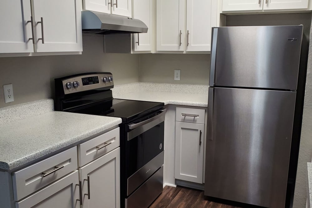 Kitchen at at 8500 Harwood Apartment Homes in North Richland Hills, Texas