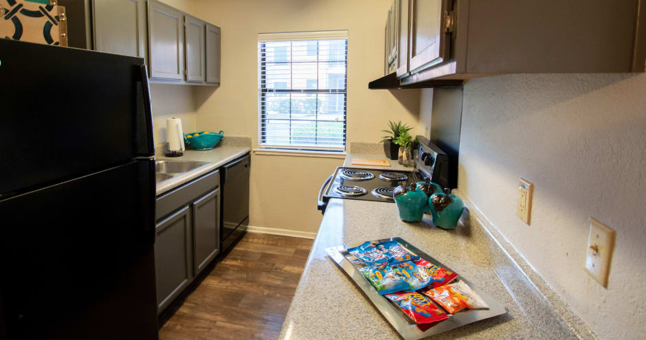 Luxury kitchen at Promenade at Valley Creek in Irving, TX