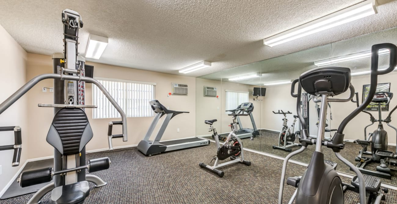 Exercise room with machines at The Ritz in Studio City, CA