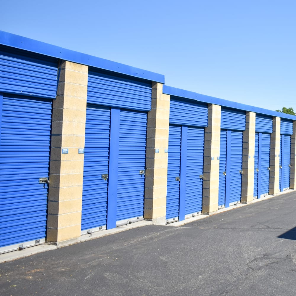 View the convenience of drive-up storage offered at STOR-N-LOCK Self Storage in Boise, Idaho