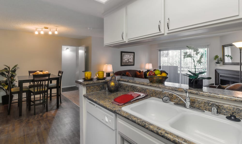 Nice clean kitchen in our Valley Village, CA apartments