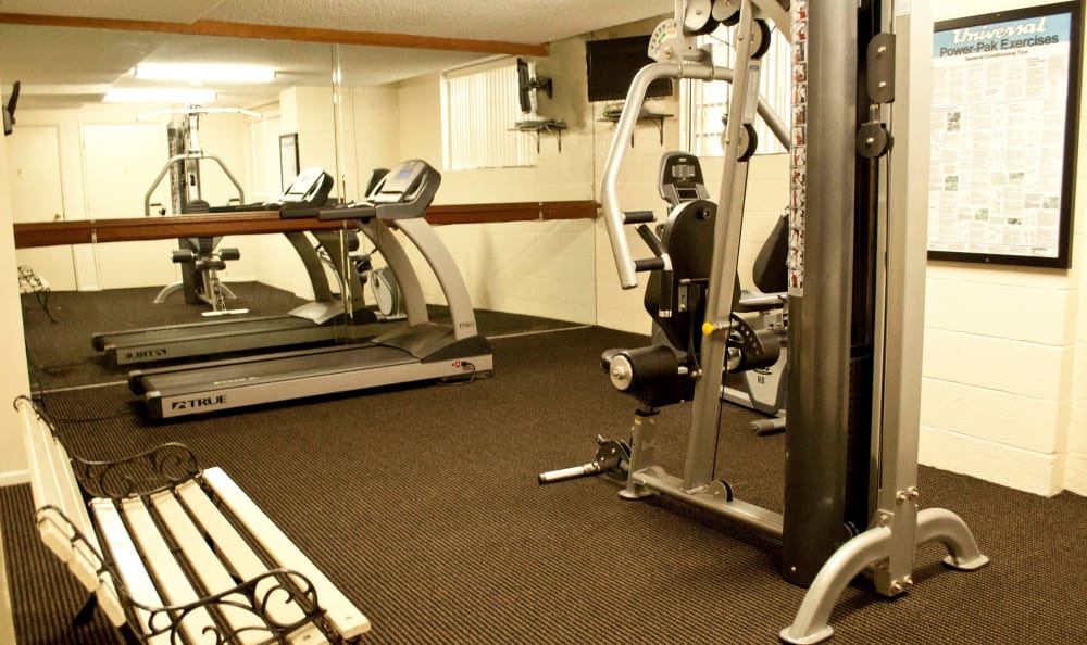 Stay healthy in our well equipped fitness center at The Plaza