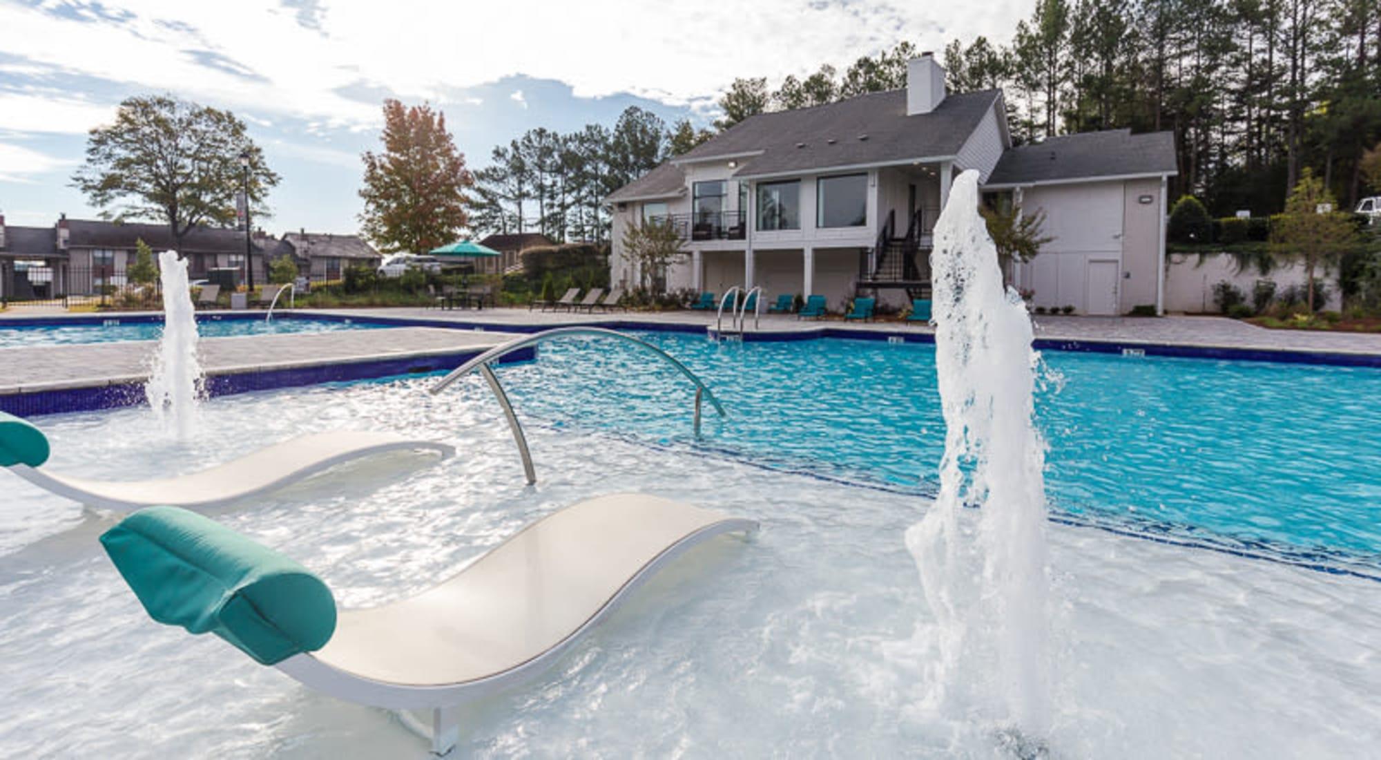 resort style pool at Castlegate Property Group in Atlanta, GA