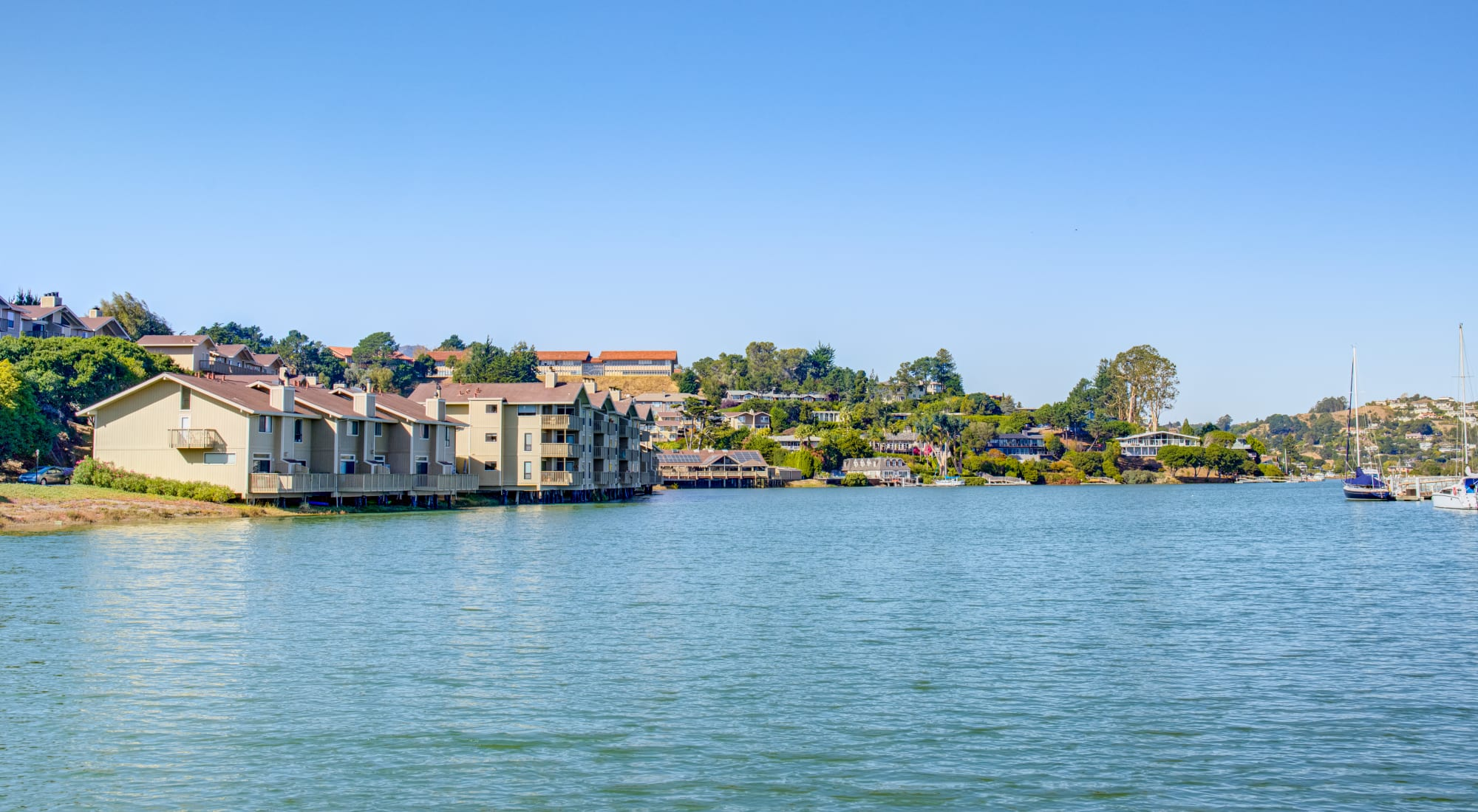 Neighborhood at Harbor Point Apartments in Mill Valley, California