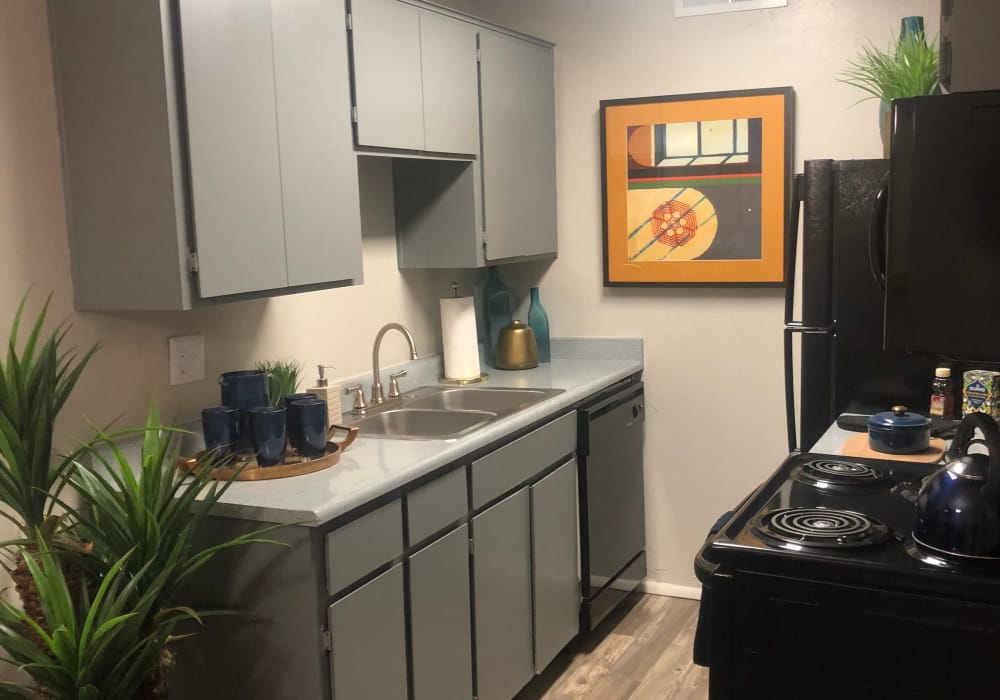Kitchen layout at Elevation Apartments in Tucson, Arizona