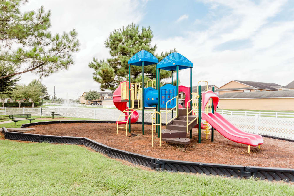 State-of-the-art playground at apartments in Katy, Texas