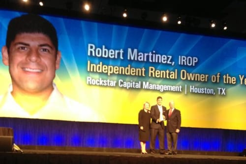 Robert Martinez of Palms at Chimney Rock Apartments wins award