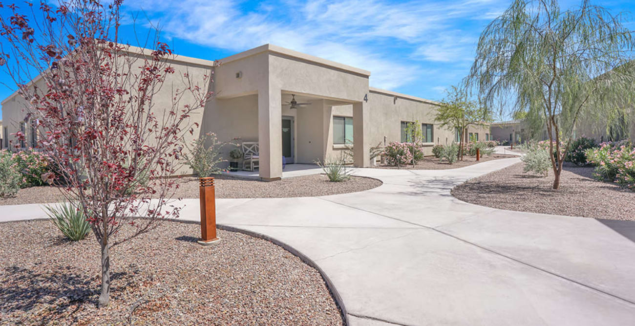 Front entrance at Hacienda Del Rey in Litchfield Park, Arizona