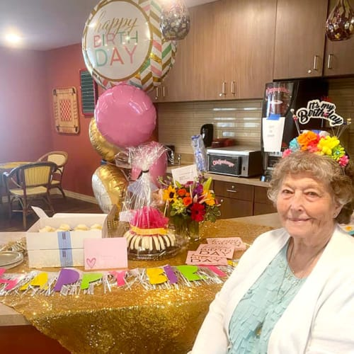 Birthday party at The Oxford Grand Assisted Living & Memory Care in Kansas City, Missouri