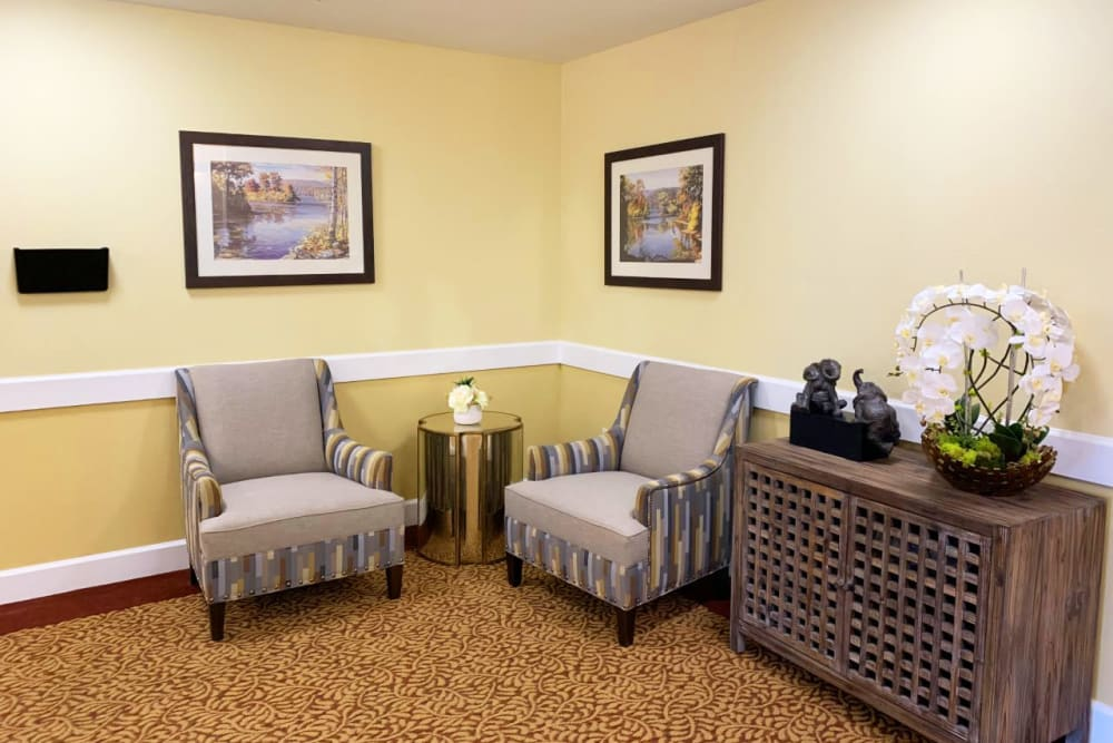 A nice place to sit at Lassen House Senior Living in Red Bluff, California