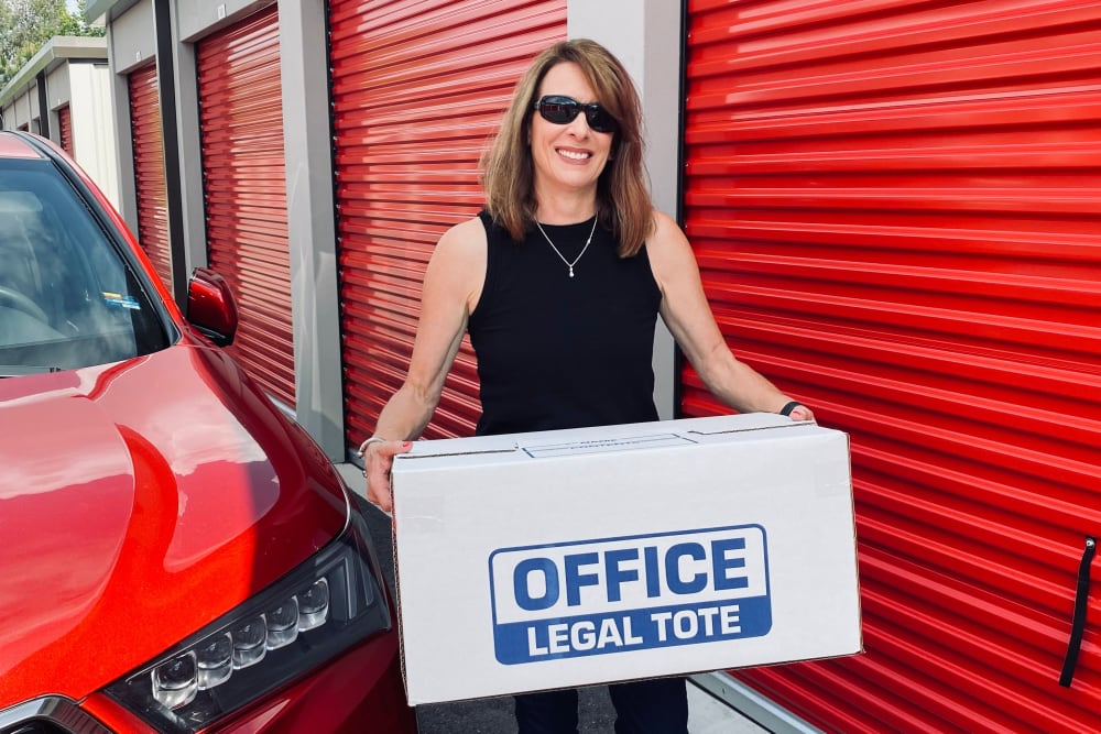Legal tote at Mansfield Self Storage in Mansfield, CT