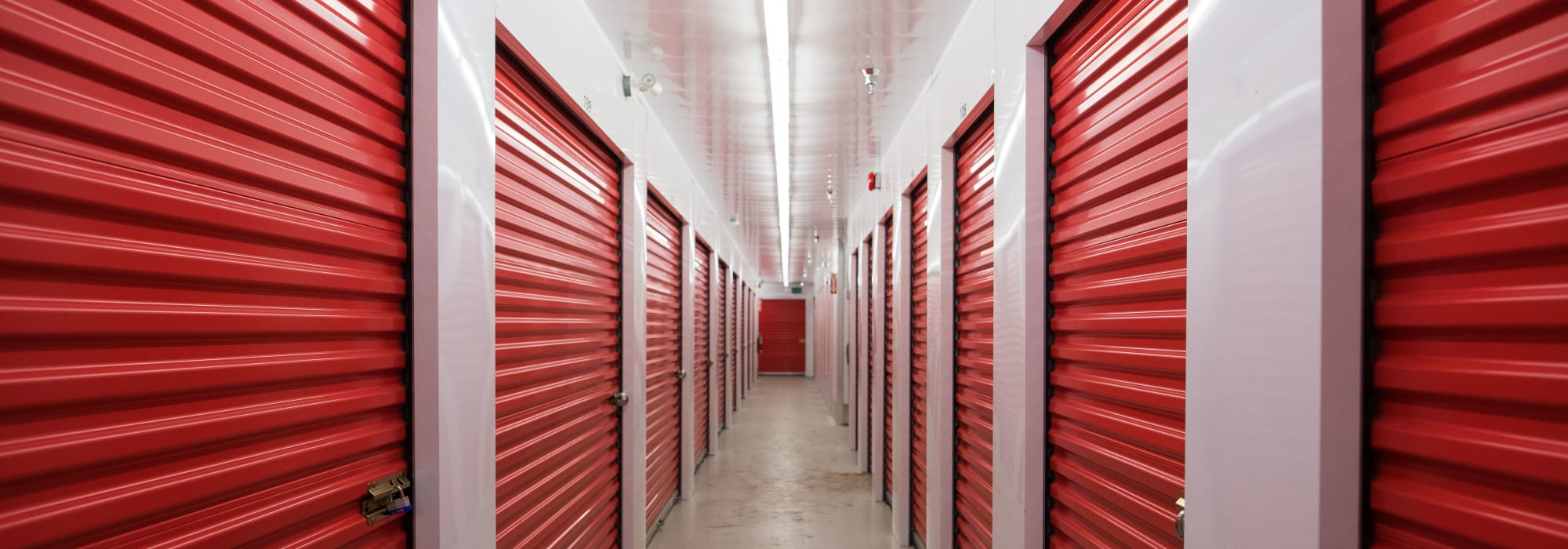 Indoor storage units at Apple Self Storage - Saint John North in Saint John, New Brunswick