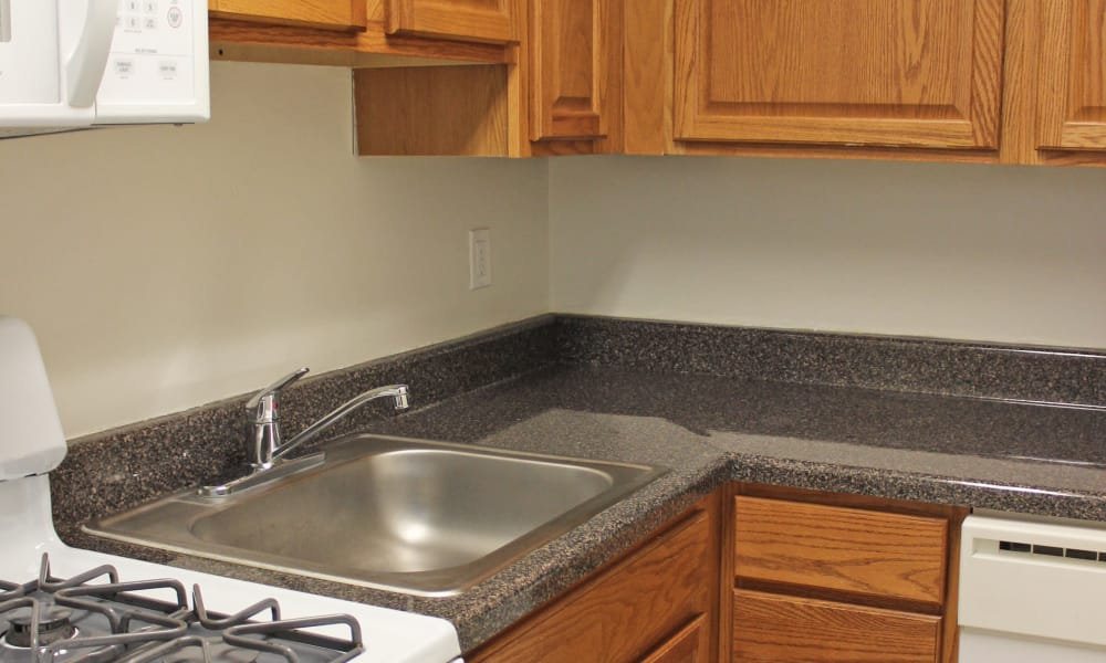 Beautiful apartments with a kitchen at Curren Terrace in Norristown, Pennsylvania