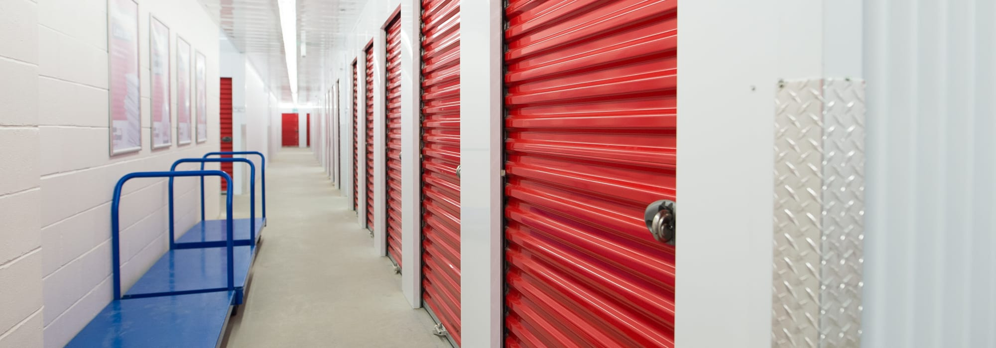 Interior units and carts available at Apple Self Storage - Kitchener - Highland in Kitchener, Ontario
