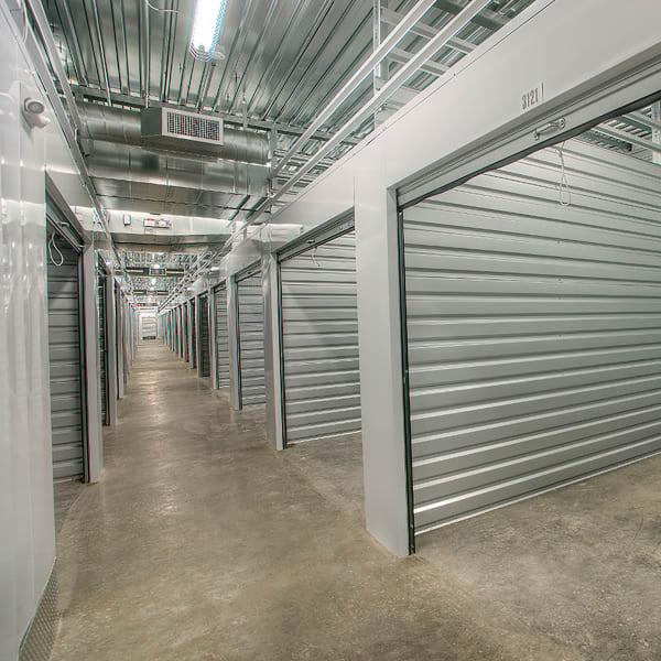 Open interior units at StorQuest Self Storage in Federal Way, Washington