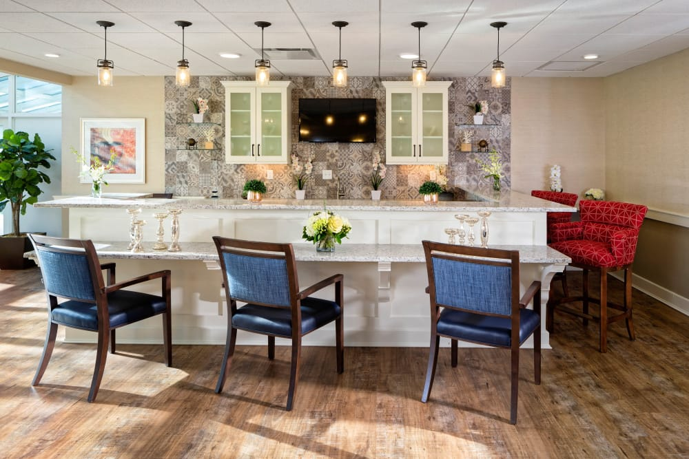 Kitchen at Maplewood at Mayflower Place in West Yarmouth, Massachusetts