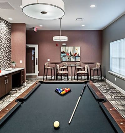 Billiards room at The Kane at Gray's Landing in Aliquippa, PA