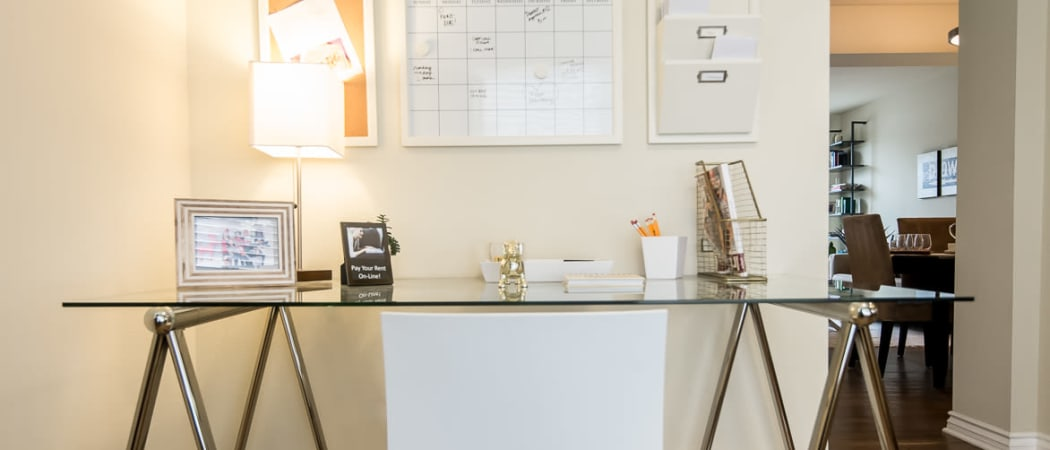 Home Office at IMT Townhomes at Magnolia Woods in Sherman Oaks, CA