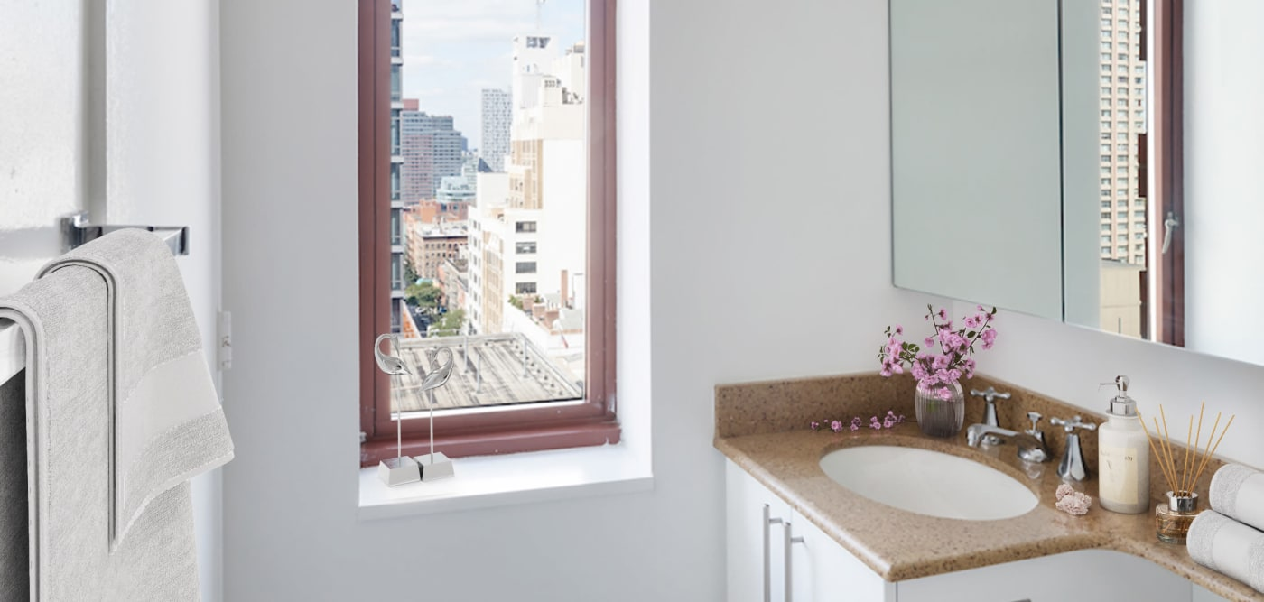 Compact bathroom at The Ellington in New York, New York