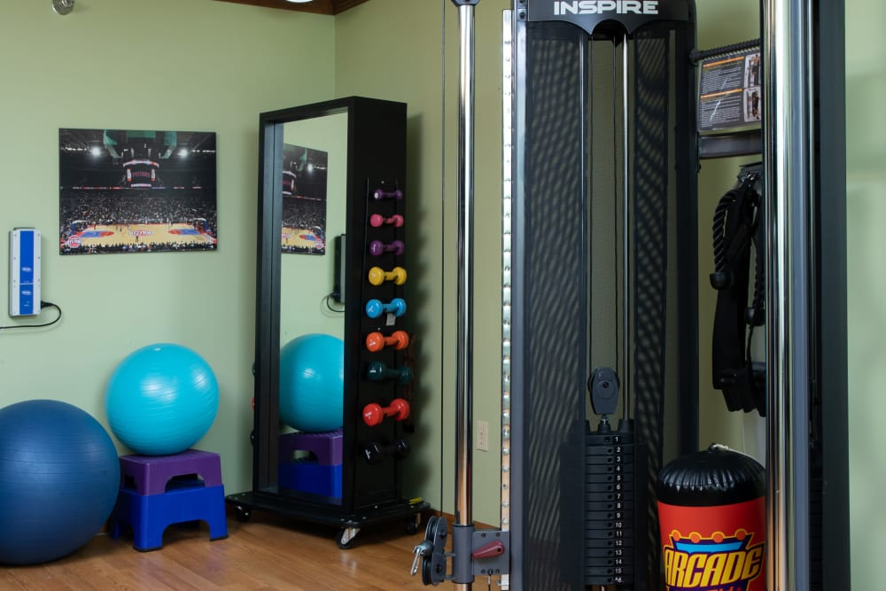 Fitness center at Lakeshore Woods in Fort Gratiot, Michigan