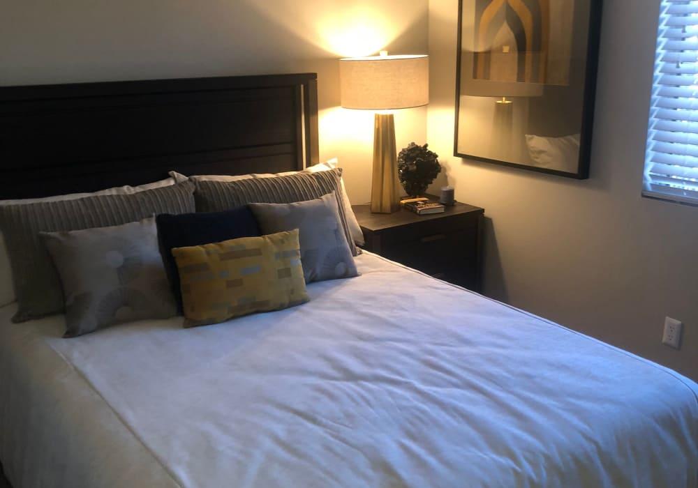 Modern bedroom at Elevation Apartments in Tucson, Arizona