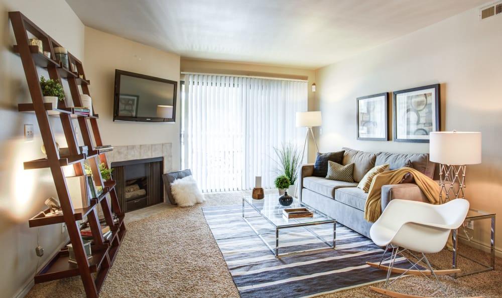 Living room at Royal Farms Apartments