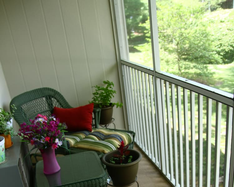 Beautiful private balcony at Park Apartments